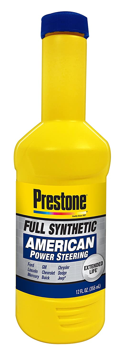 Prestone AS264 Full-Synthetic Power Steering Fluid for American Vehicles, 12 fl. oz.