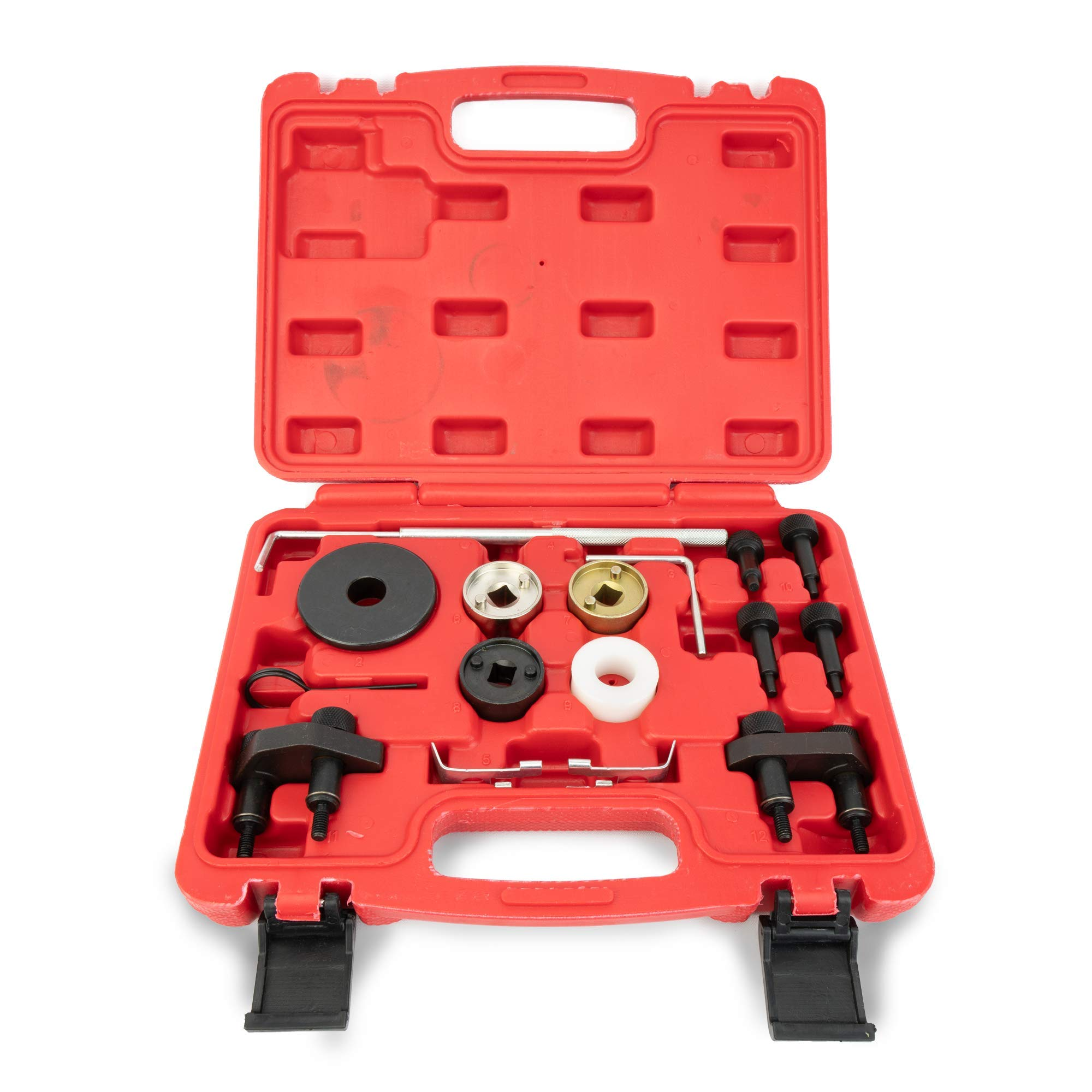 Replacement VAG Volkswagen Audi Timing Tool Kit - 1.8L, 2.0L R4 16V Turbo TSI, TSFI EA888 Engine - Replaces# T10352, T10368, T40098, T40011 & More - Audi Camshaft & Crankshaft Timing Position by Delray Auto Parts (Image #3)