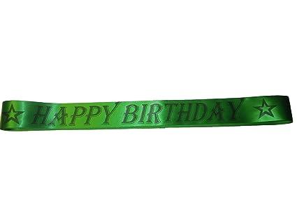 Amazon.com: Verde Feliz cumpleaños Sash 60 inch: Toys & Games