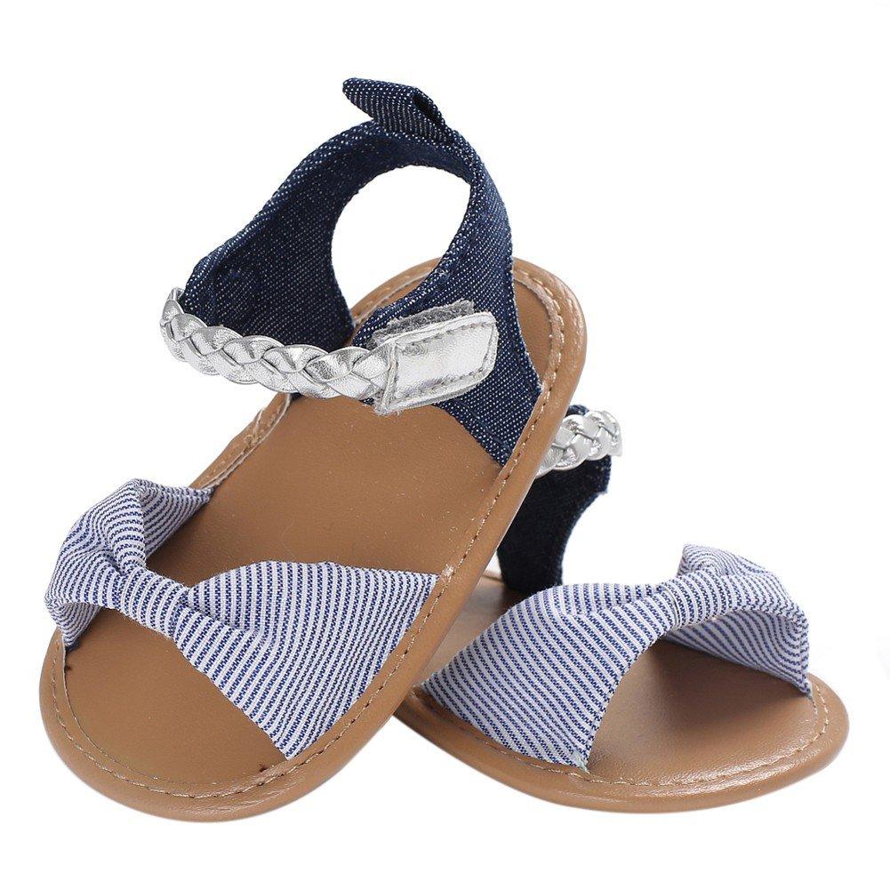 f307faee294b5 Chaussures Bebe Fille Cuir Souple Bowknot Ete Sandales Chaussures Premiers  Pas pour Bébé Fille 0-18 Mois Minuya ...