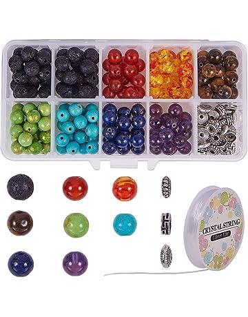 ZARRS Perlas Redondas,340 Pack Perlas Abalorios Bolas 4-10 mm Vaso Perlas con Caja de Organizador para Hacer Joyas Collar DIY