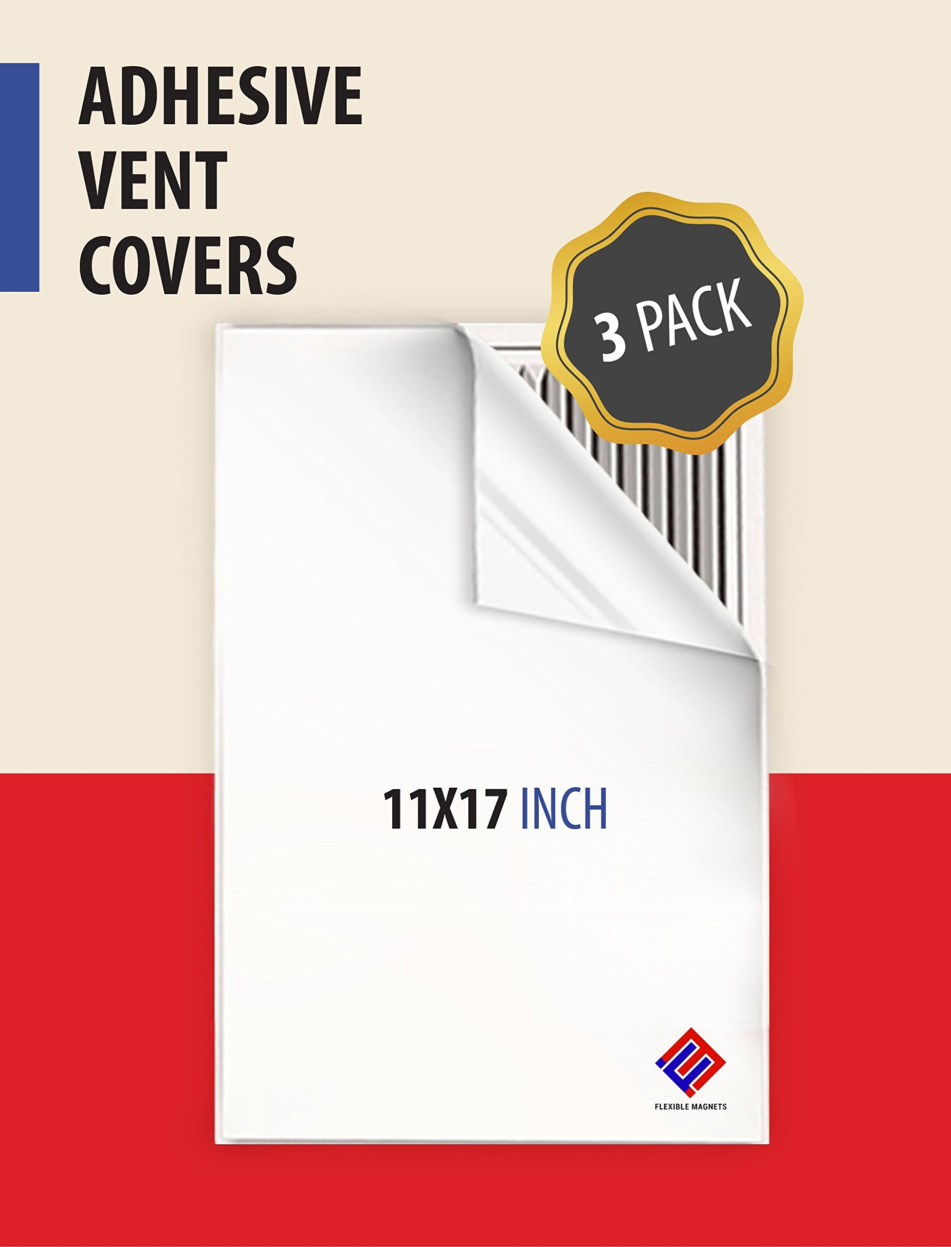 Register VENT COVERS Self Adhesive Peel & Stick 11 x 17 inches. For Air Registers, RV, Home HVAC, AC And Furnace Vents (3)