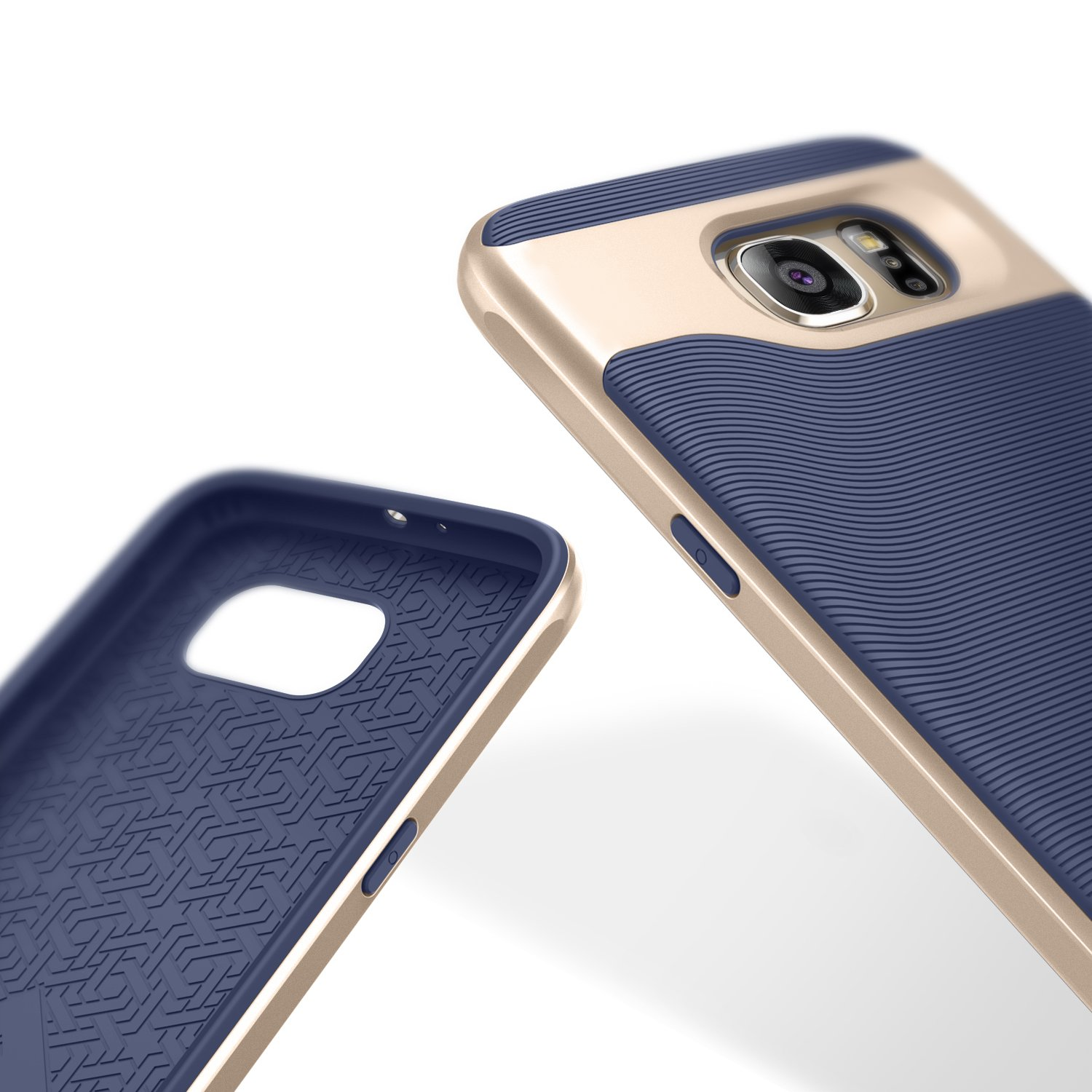 Amazon Caseology for Galaxy S6 case [Wavelength Series] Slim Dual Layer Protective Textured Grip Corner Cushion Design for Samsung Galaxy S6 Navy