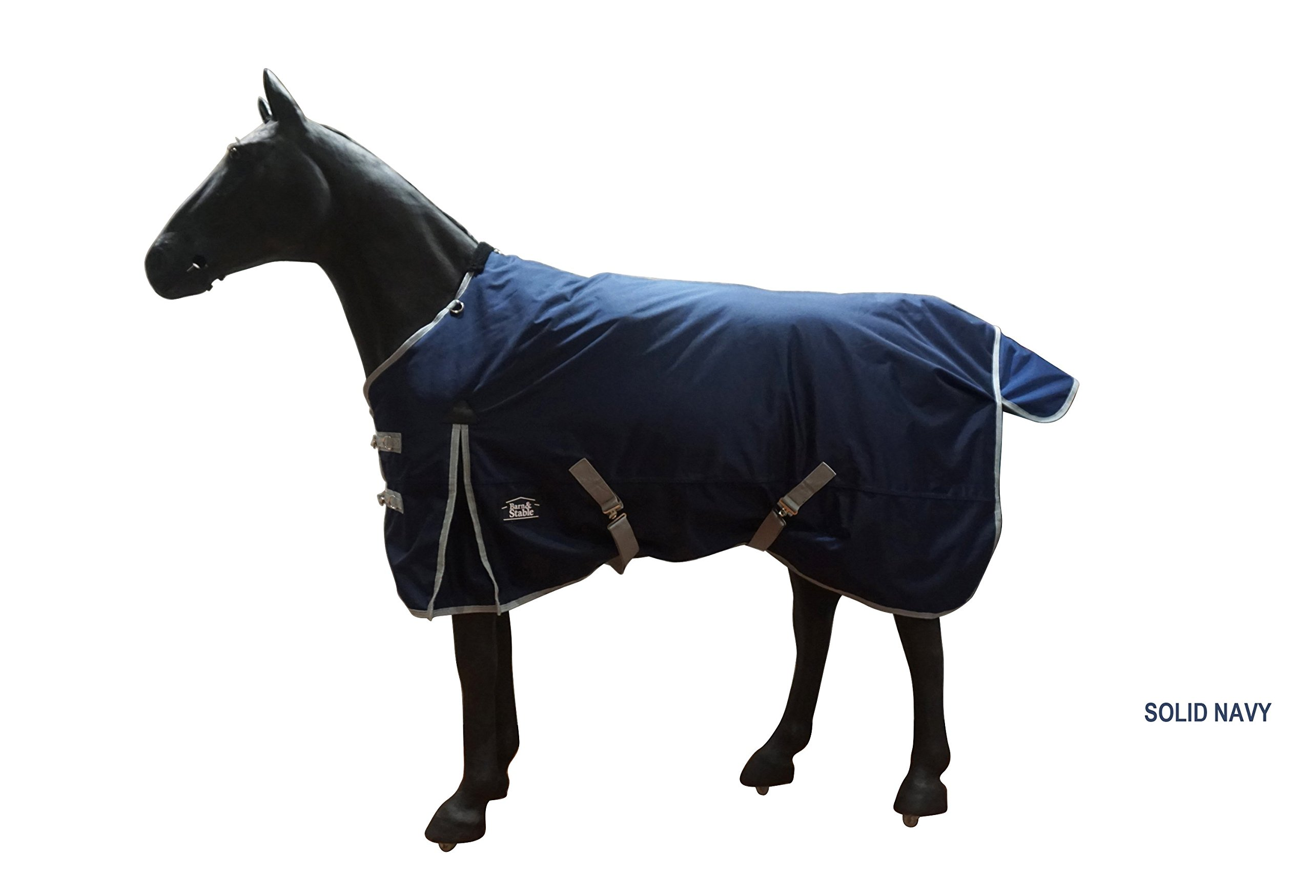 Barn & Stable Horse Blanket Turnout Blanket 1680D, 210D Lining and 200grm Fill