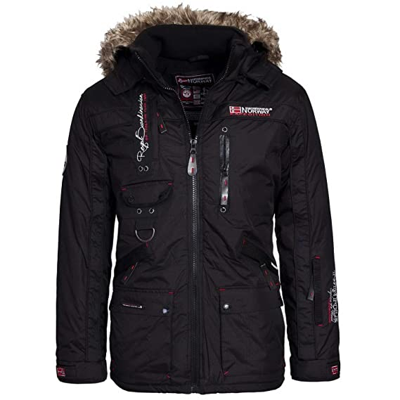 Geographical Norway - Chaqueta - Parka - para Hombre Negro Small