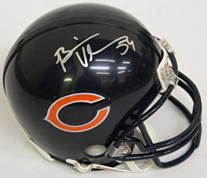 59b7bb52c58 Amazon.com: Brian Urlacher Signed Bears Mini Helmet- Authentic ...