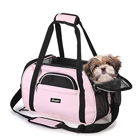 "dc5a51f561 JESPET Soft Pet Carrier for Small Dogs, Cats, Puppy, 19"" Airline  Approved"