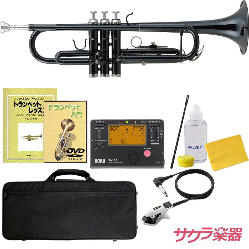 Soleil ソレイユ トランペット STR-1/GD ゴールド サクラ楽器オリジナル 初心者入門チューナーセット B075K51QT2 BK/チューナーセット  BK/チューナーセット