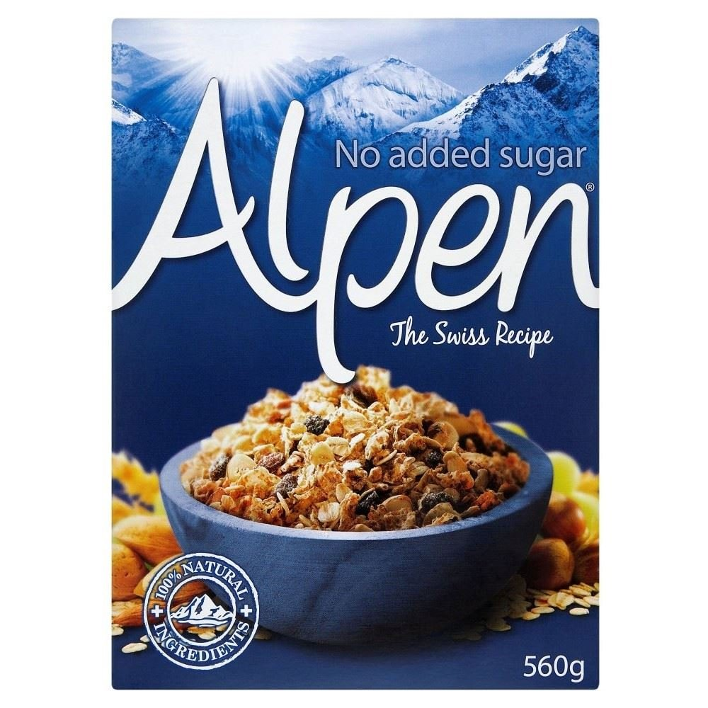 Alpen Muesli No Added Sugar (560g) - Pack of 2 by Alpen (Image #1)