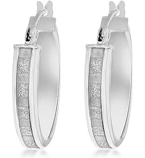 a2185c8d5e85 Tuscany Silver Damen - Ohrringe 925 Sterlingsilber Rundschliff Diamant  8.51.1999