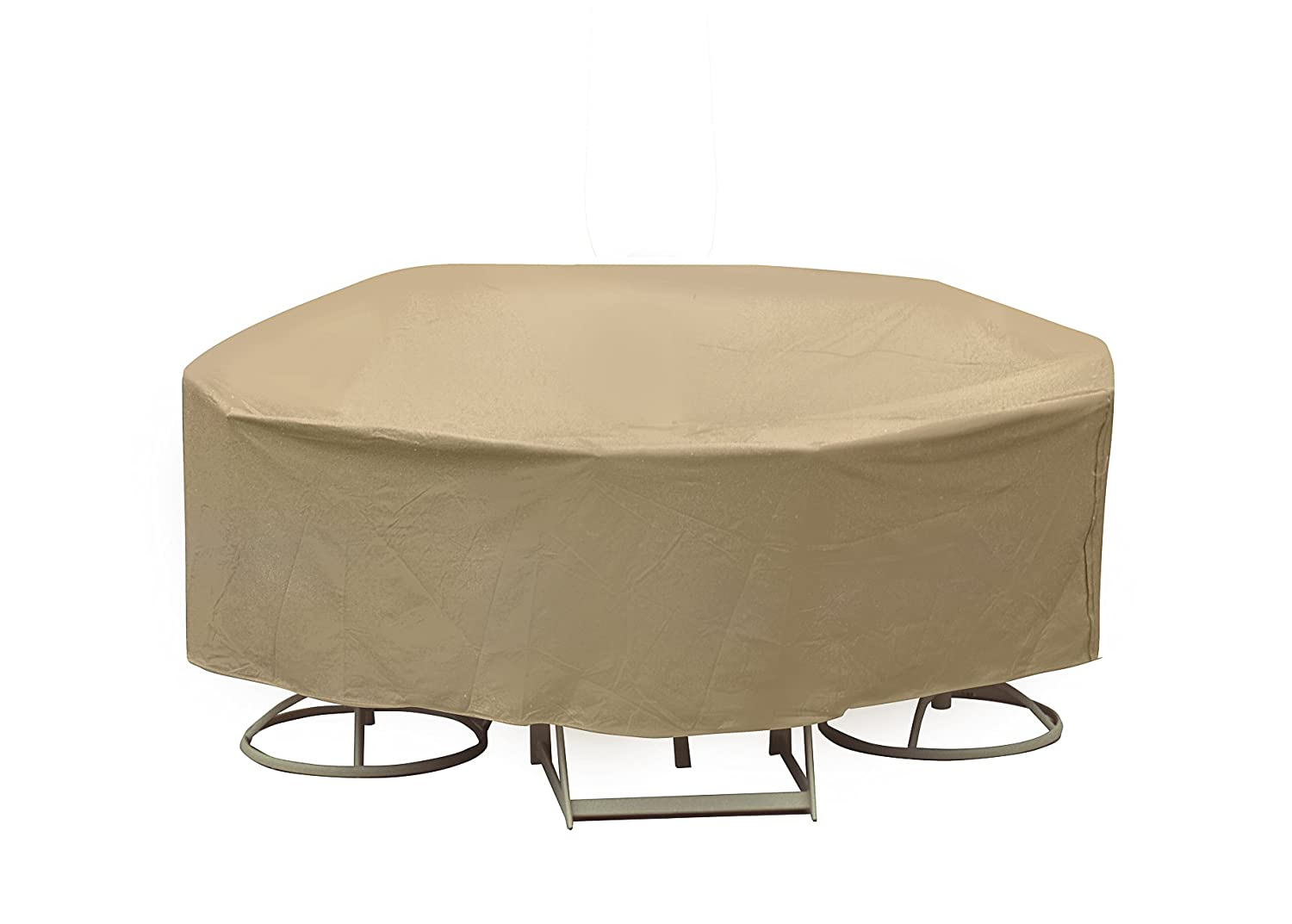 Amazon com protective covers weatherproof patio table and chair set cover 60 inch round table tan patio chair covers garden outdoor