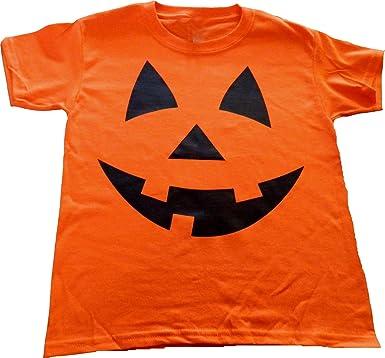054473d21 Amazon.com: Custom Kingdom Boys/Girls Pumpkin Face Halloween T-Shirt ...