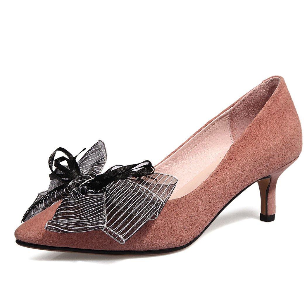Berry Couleur FLYSXP Chaussures pour Les Les dames soulignées Talons Hauts Chaussures Peu Profondes bel Arc Talons Hauts Mode Sauvages Travail Chaussures de Sport Chaussures Palais Chaussures Femme