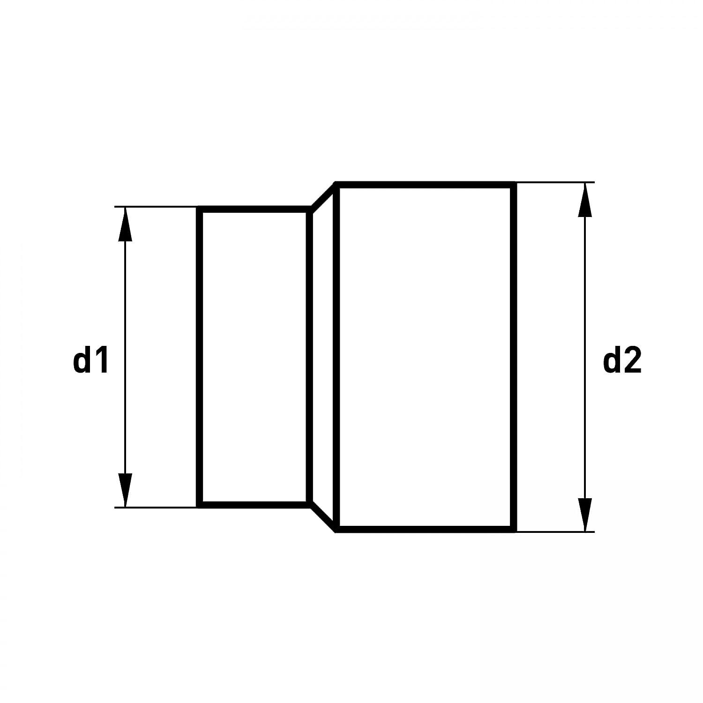 raik SH013-019-gg Rauchrohr 200mm gussgrau Ofenrohr Erweiterung 180mm