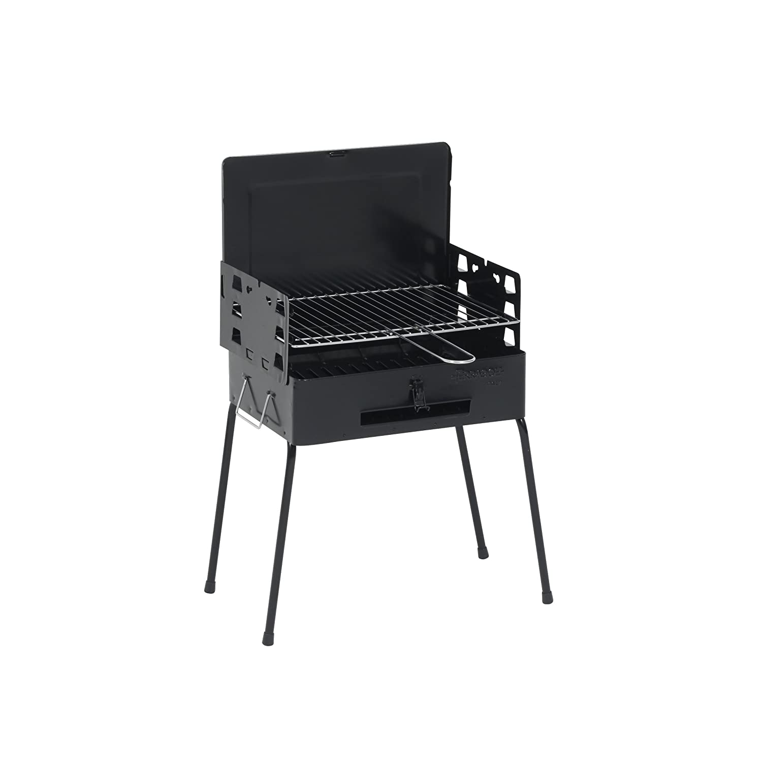 Kamino-Flam case, full set small folding BBQ/charcoal lighter/picnic barbecue, space-saving folding portable charcoal barbecue grill with adjustable rack, sheet steel, party to go Kamino Flam 129157