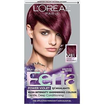 LOréal Paris Feria Permanent Hair Color V Violet Vixen - Hair colour violet brown