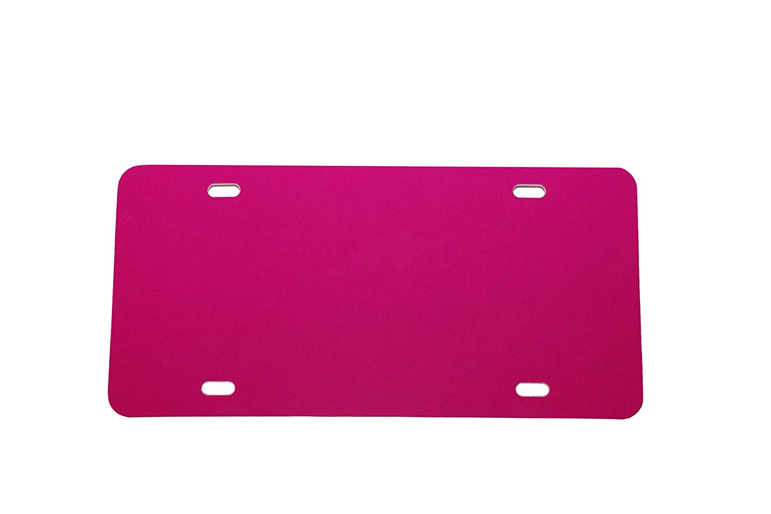 Dark Pink Plastic License Plate Vinyl Blank Laser Cut and Made in USA .020