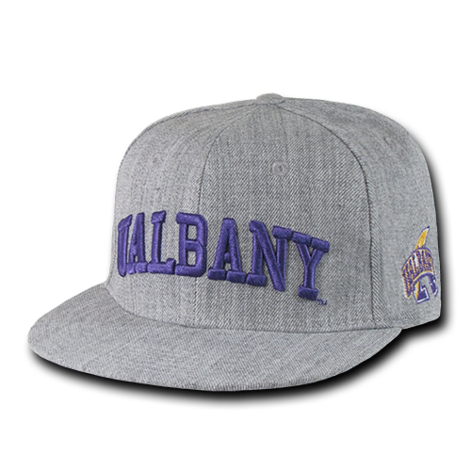 University of Albany The Great Dane NCAA Heather Gray Fitted