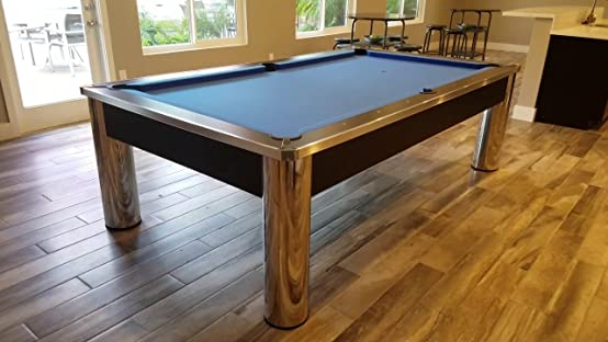 Amazon.com : Spectrum Contemporary 8 Ft. Pool Table   Free Accessory Set  (Chrome And Black, 8 Foot) : Sports U0026 Outdoors