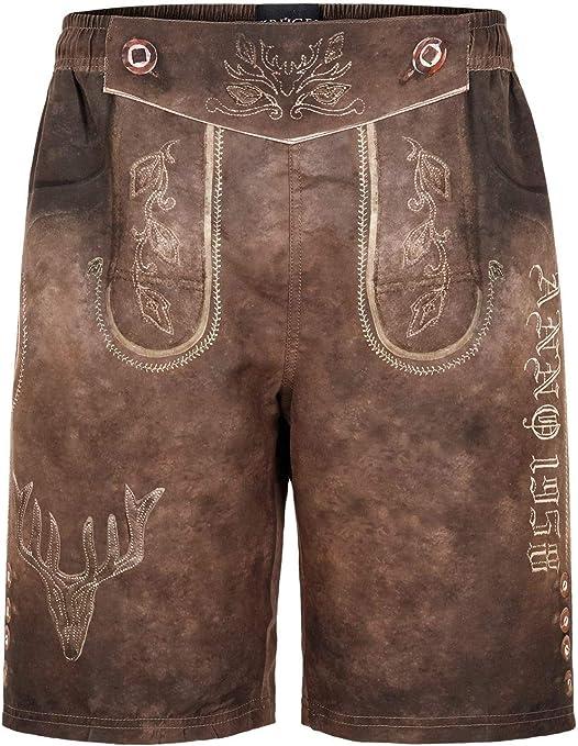 Kr/üger Dirndl Traditional Boxershort Men 2pc//Set 94681-44 Gray