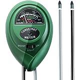 Antonki Soil Ph Meter, 3-Way Soil Tester Kit Ph Meter Moisture Tester Light Sensor Meter Plant Tester for Garden, Lawn, Farm, Indoor and Outdoor - No Battery Required