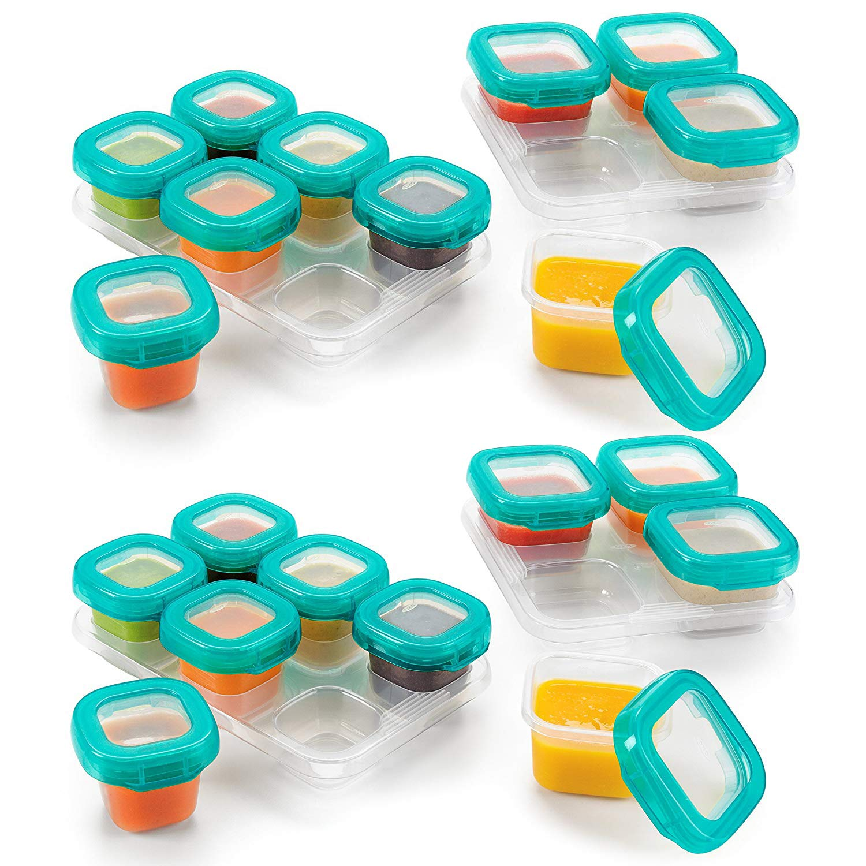 OXO TOT 12-Piece Baby Blocks Set, Teal (2 Pack)