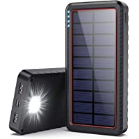 Dyw Cargador Solar 26800mAh, Batería Externa Solar con Entrada Tipo C y 2 Salidas USB, Power Bank Solar de Carga Rápida…