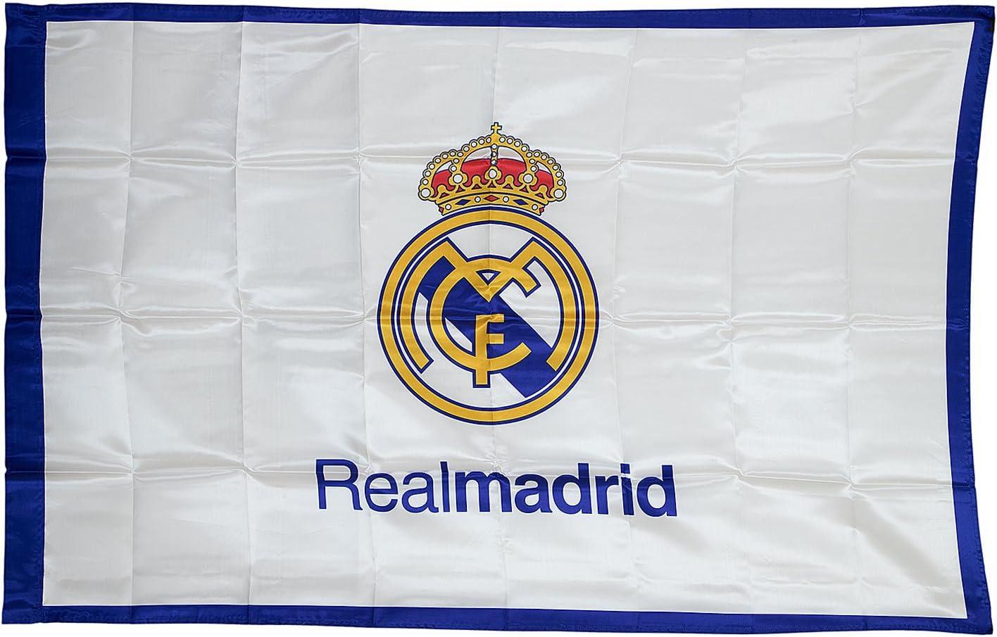 Real Madrid Bandera 150 x 100, weiß, Talla única: Amazon.es: Deportes y aire libre