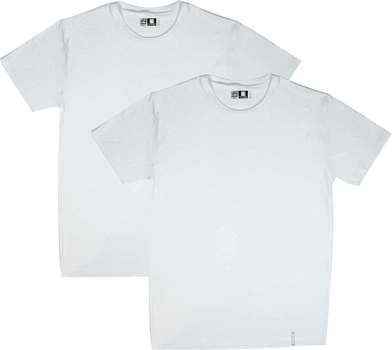RBX Active 2 Pack White V-Neck Undershirt for Men