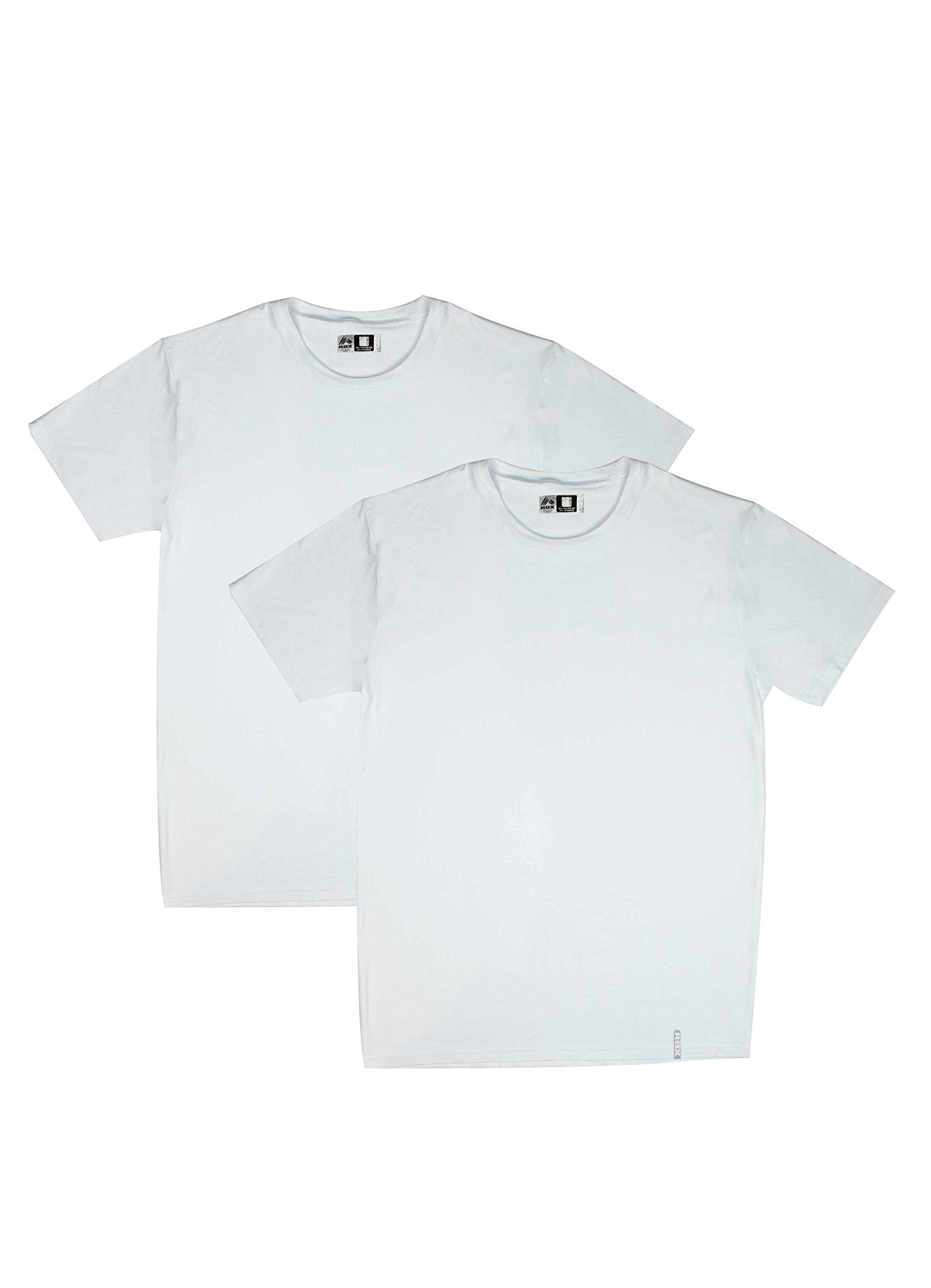 RBX Active 2-Pack Men's Crew Neck Undershirts White M