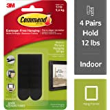 Command Picture Hanging Strips, Medium, Black, 4-Pairs, 6-Pack (24 Pairs Total)