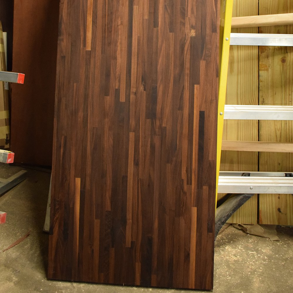 Walnut Butcher Block Countertop - Custom Size - 72 Inches Length x 12 Inches Width x 1-1/2 Inches Thick