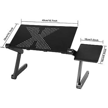 mewalker portátil ordenador portátil soporte de mesa, 360 Degree ajustable plegable para portátiles escritorio mesa soporte con ratón Junta, ...