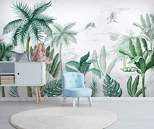 Amazon Com Murwall Forest Wallpaper Palm Tree Wall Mural