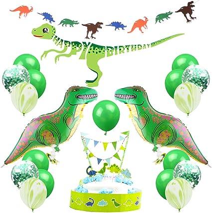 X 2 Dinosaurio Niños Fiesta De Cumpleaños Fiesta nombre Banners Para Niños Decoraciones