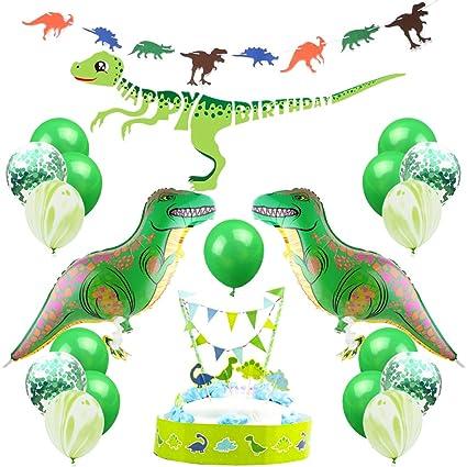 Amazon.com: KREATWOW - Globos de dinosaurio, decoración de ...