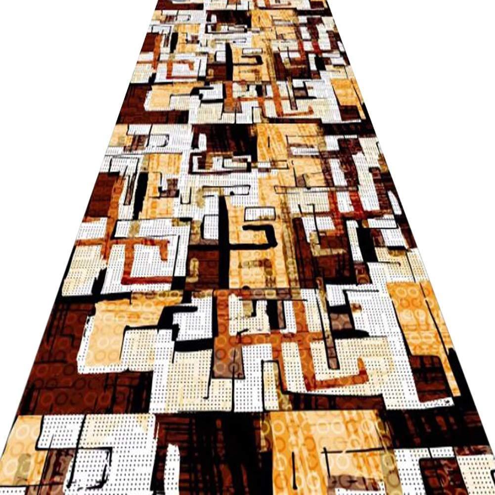 古典的な長方形の家の ホテルの廊下の入り口ロングカーペットモダンな幾何学模様滑り止めアンチフェード耐久性カッティングテーブルホールハウスリビングルーム寝室屋外カスタマイズ可能 ームリラックスして読書用マルチカラーラグ のカーペットカーペット (Size : 1*4m/39.37*157.48in) B07SKYZJ4L  1*4m/39.37*157.48in