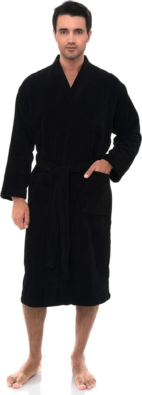 TowelSelections Men's Robe, Fleece Cotton, Terry-Lined Water Absorbent Bathrobe