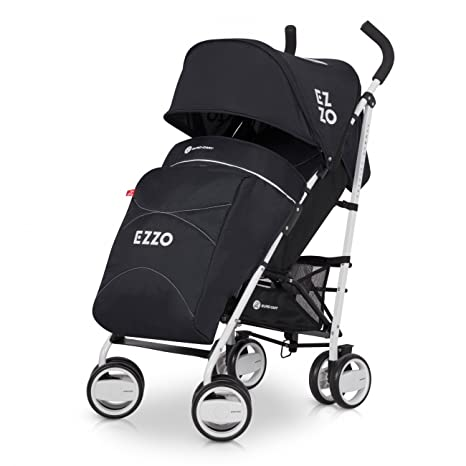 Buggy ezzo Sport cochecito | bebé a partir de 6 meses | compacto plegable negro antracita