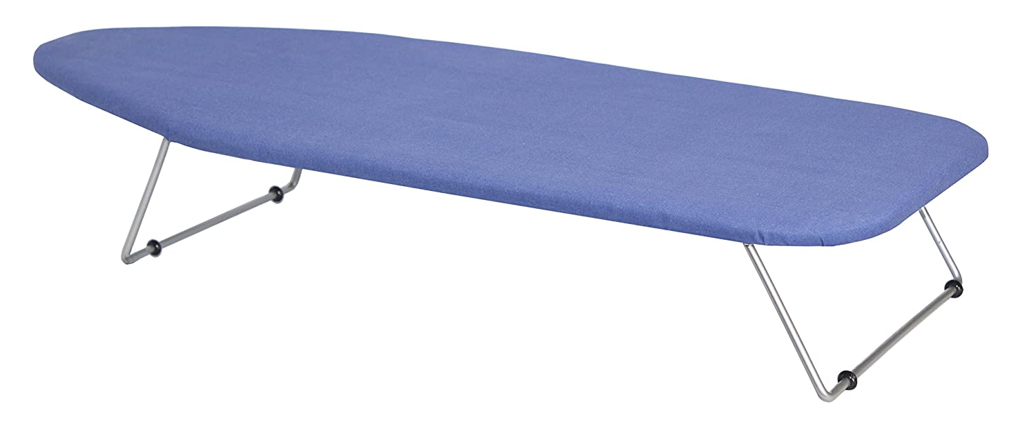 Wholesale Hotel Products Tabletop Ironing Board with Hanger, Blue Cover