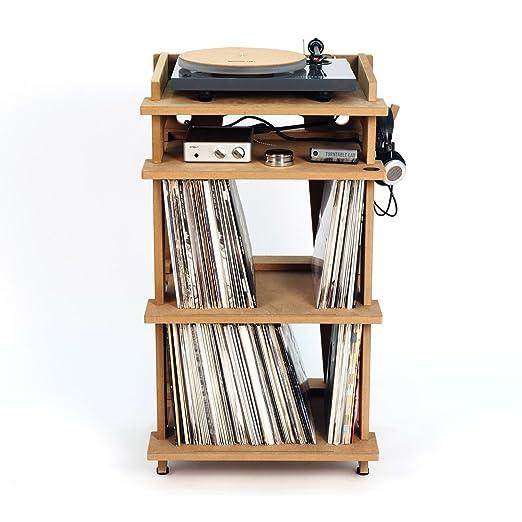 Estación de línea Phono Turntable Stand + almacenamiento de Discos ...