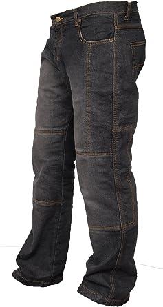 newfacelook Motorradhose Rustungen Arbeitshosen Jeans Fracht Verst/ärkt durch Aramid Schutzauskleidung