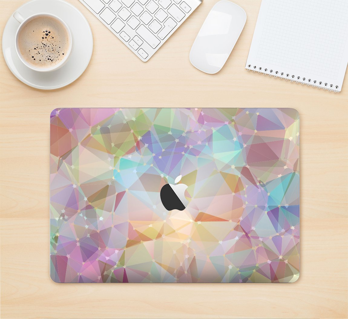 The Abstract Geometric Subtle Colored Connect Blocks Full-Body Wrap Skin Kit for the 13 Inch Apple MacBook Air