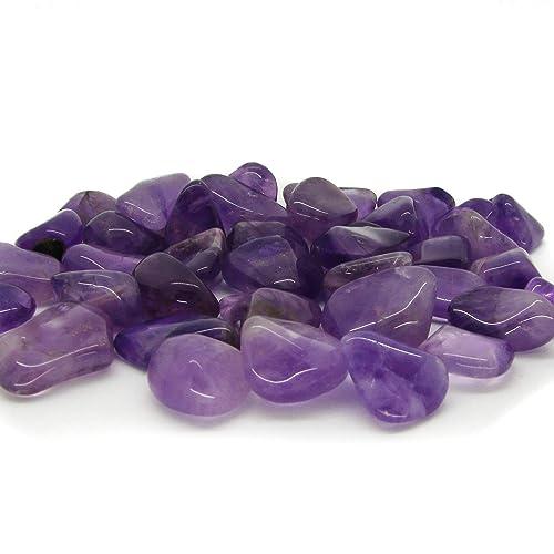 Tumbled Amethyst Stones Set 1/2lb Bulk Assorted