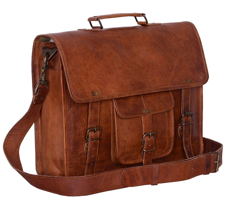 CraftShades Adults Laptop Look Messenger Briefcase Satchel Office Handmade Bag One Size Brown