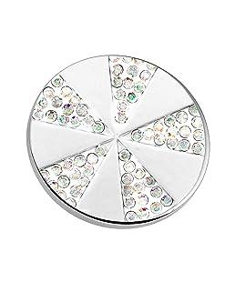 AKKi jewelry Magnet-brosche Anhänger Stern für Kleidung, Schals, Tücher und Ponchos Damen Magnet-schmuck Baum des Lebens Blume Magnet-Pin Kleider Farbe Silber Schmuck mit Strass Wert #7