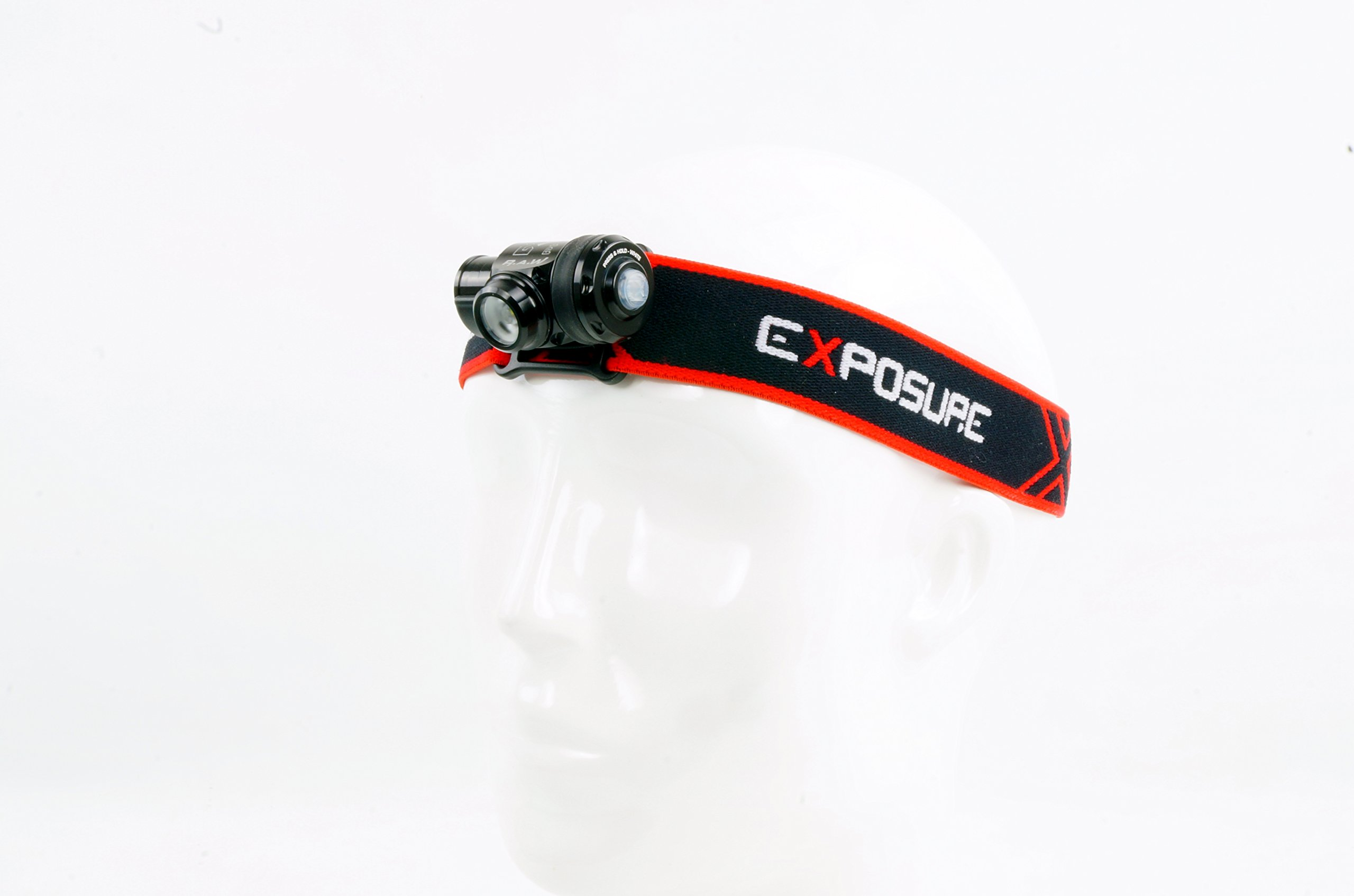 Exposure Lights R.A.W. PRO Edition 200 Lumen Red & White waterproof head Torch Made In Great Britain by Exposure Lights (Image #4)