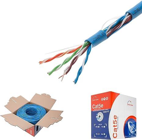cat6, White CAT5E CAT6 Cable 1000FT UTP Solid Network Ethernet CAT5 Bulk Wire RJ45 LAN Choose Length: 1000ft