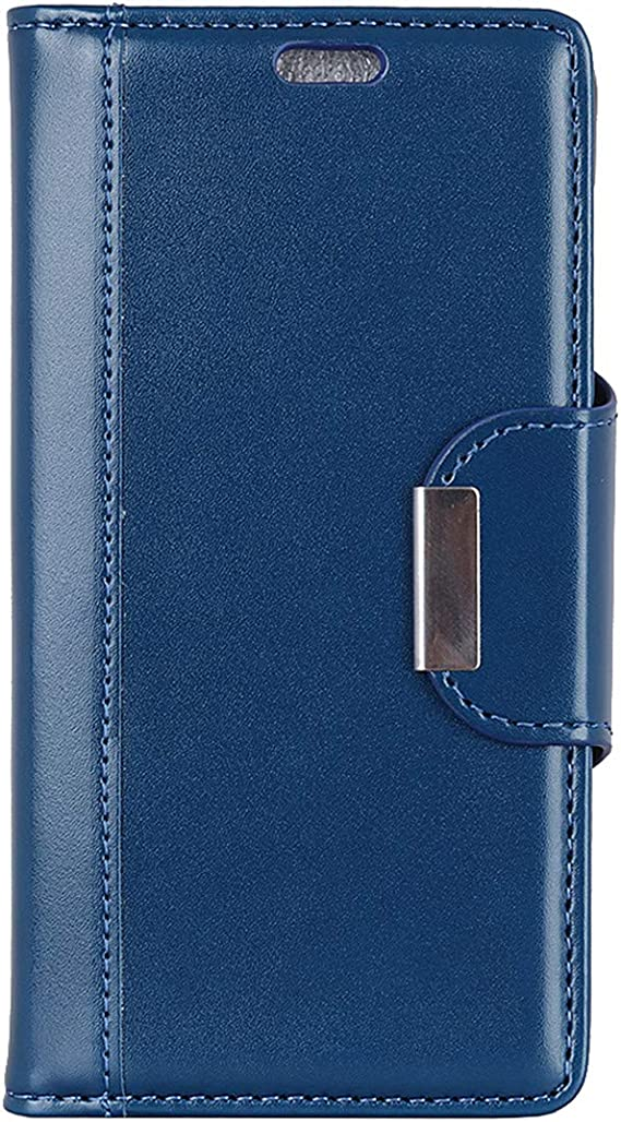 Huawei P30 Lite Case 6.0 Gift/_Source Premium Pearlescent Texture PU Leather Wallet Case Purse Flip Cover Magnetic Closure Protection with Fold Kickstand and Card Slots for Huawei P30 Lite Blue