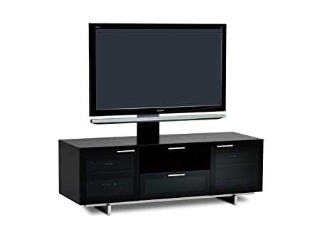 BDI 8937 Avion Noir Media Cabinet TV Stand, Black